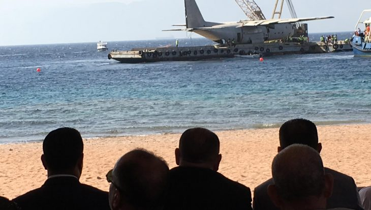 Nieuw duikwrak naar de bodem Golf van Aqaba