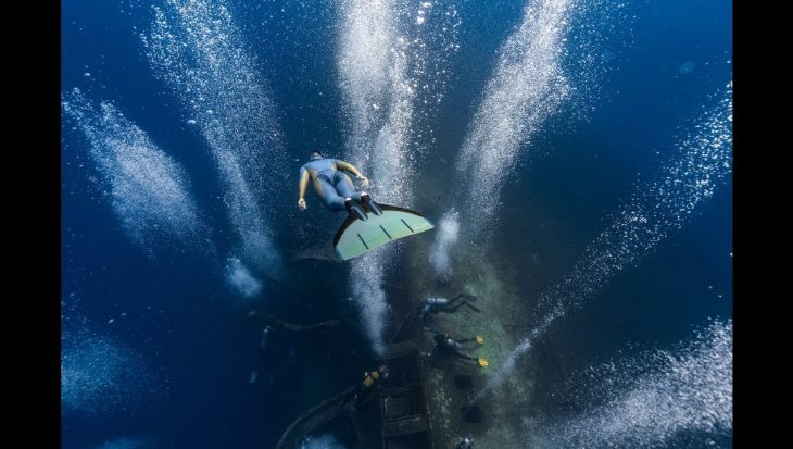 Freediving over het Zenobia wrak