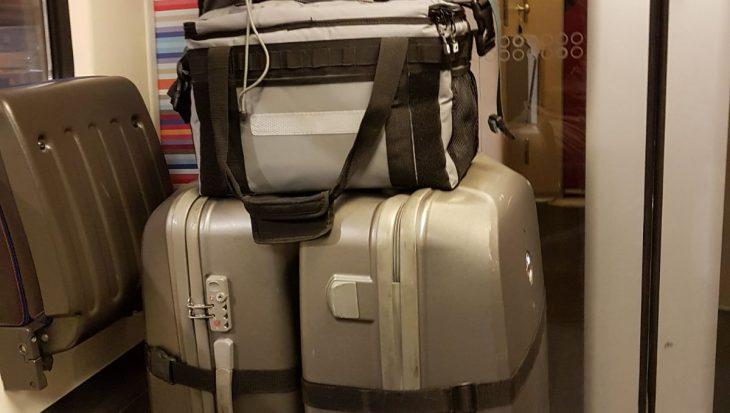 Ik zit nu al aan de 56 kg bagage!