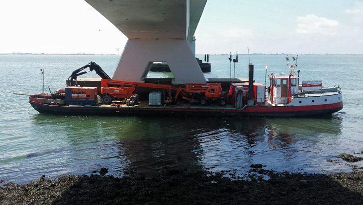 Tijdelijk duikverbod Zeelandbrug
