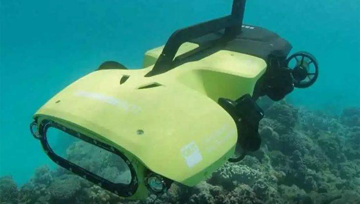 Zwemmende drone moet riffen gaan beschermen