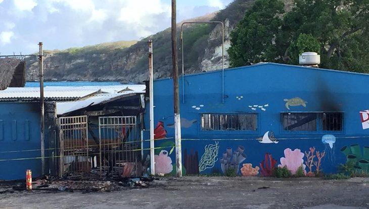 Brand in Duikcentrum Dive Wederfoort Curaçao