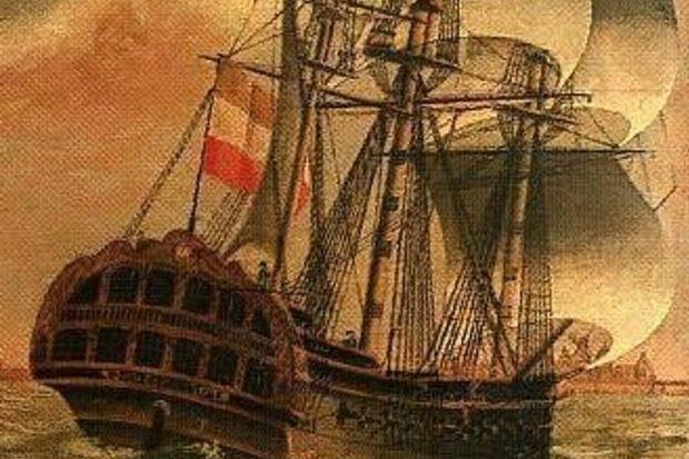 Nederlands 18e eeuws scheepswrak 't Vliegend Hart in gevaar