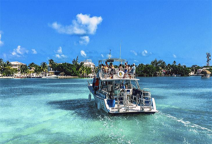 Het hippie-eiland Caye Cauker in Belize.