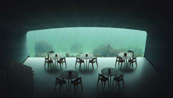 Europa's eerste onderwaterrestaurant geopend