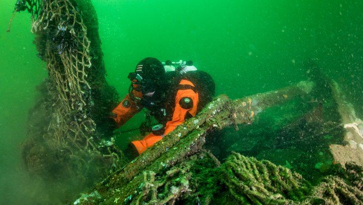 Ghost Fishing identificeert Noordzee wrak Rode Poon