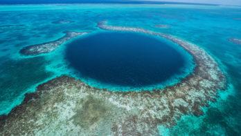 Great Blue Hole Belize, eindeloze diepte