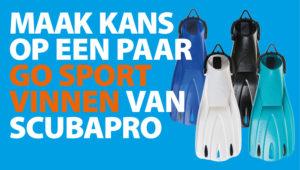 Maak kans op een paar GO Sport vinnen van Scubapro