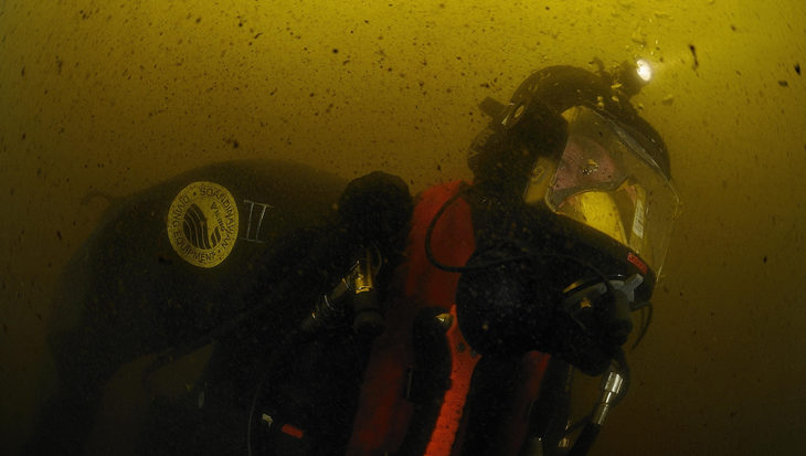 Gered na 13 minuten onder water
