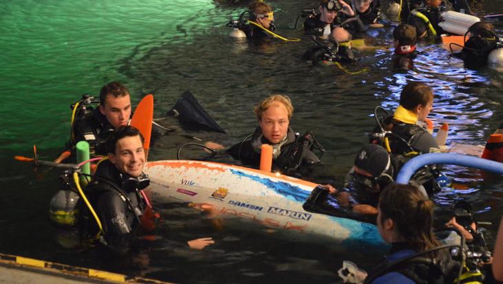 WASUB wordt tweede op WK voor mens-aangedreven onderzeeër