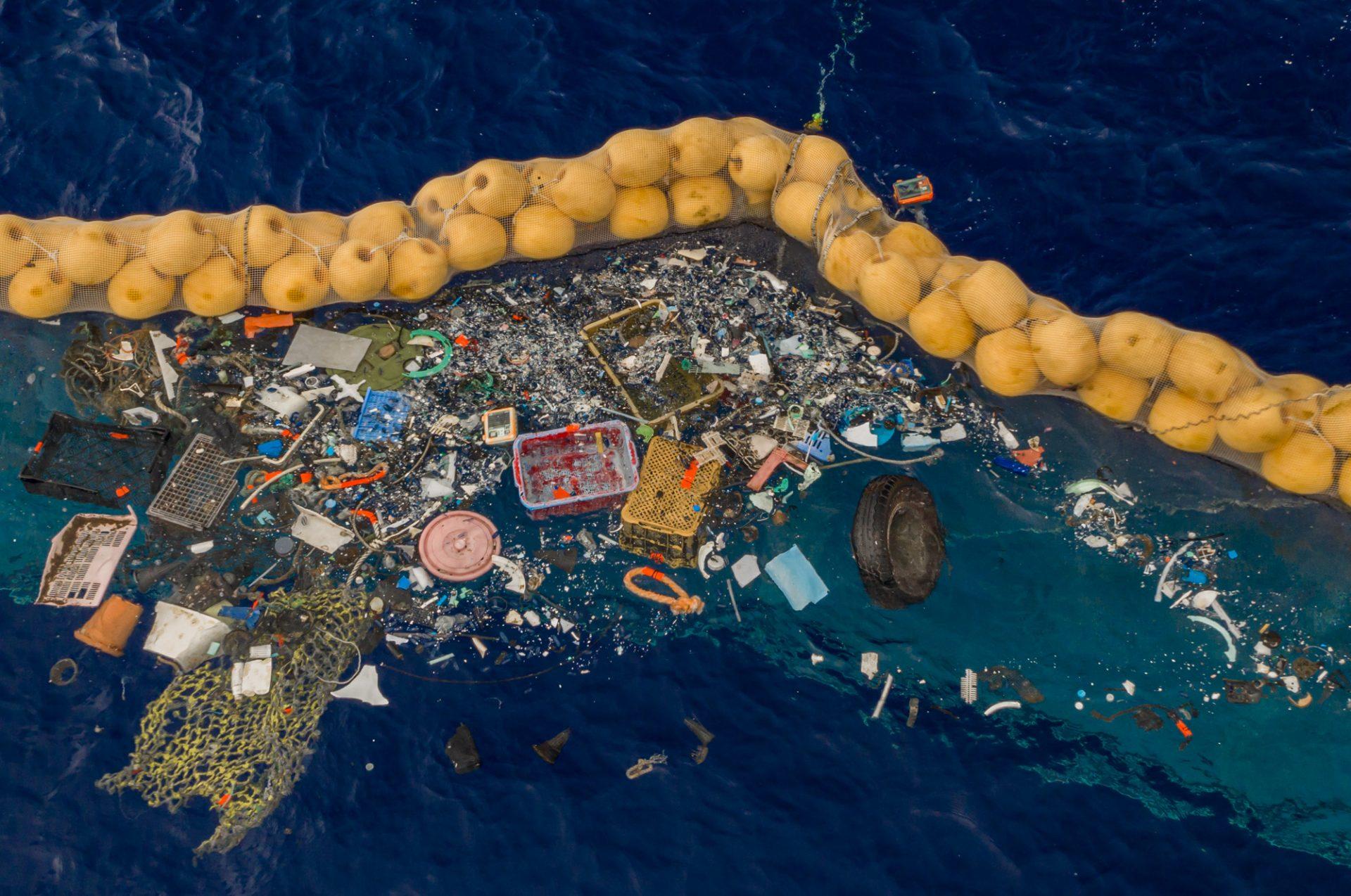 Ocean cleanup plasticsoep