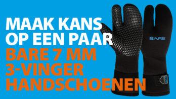 Cadeau van de maand - BARE 3-vinger handschoenen