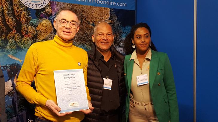 Gilbert Isabella benoemt tot ambassadeur van Bonaire