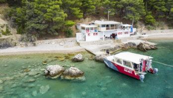 Manta Diving Center op het eiland Vis