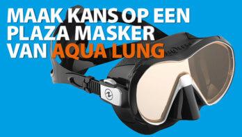 Win! Een frameloze Plaza masker van Aqua Lung!