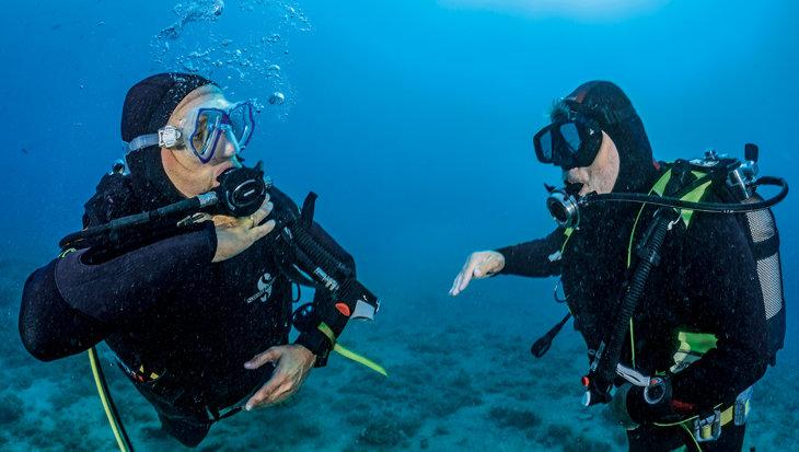 Van fouten leren: Geen lucht onder water