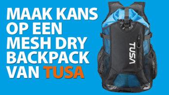 Win! Een Mesh Dry backpack van Tusa