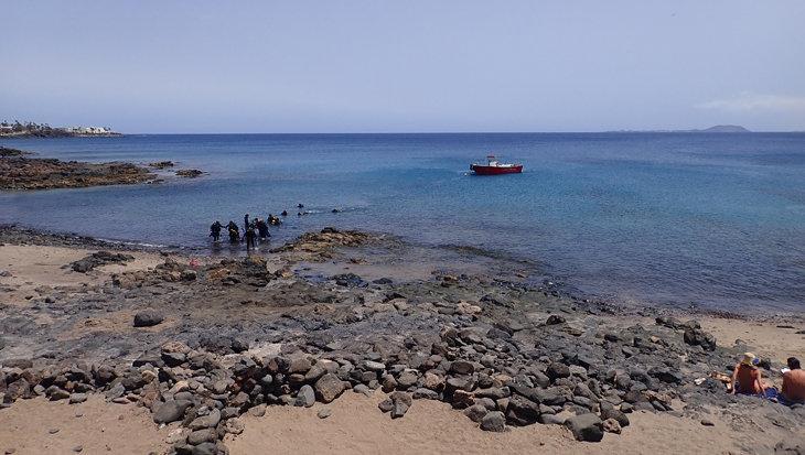 Geel reisadvies voor duikvakantie naar Lanzarote