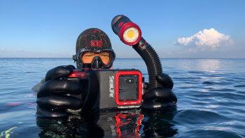 Compact camera is uit, lang leve de SeaLife SportDiver