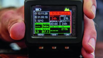 Geleende duikcomputer zorgt voor verwarring