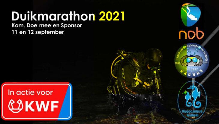 Duikmarathon voor het KWF 2021